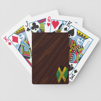 Jamaican touch fingerprint flag bicycle playing cards