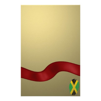 Jamaican touch fingerprint flag customised stationery