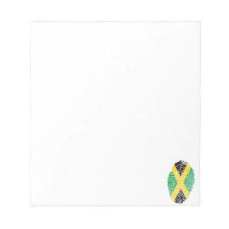 Jamaican touch fingerprint flag notepad