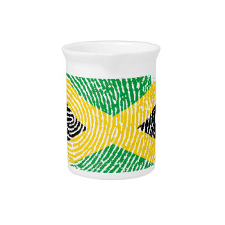 Jamaican touch fingerprint flag pitcher