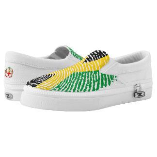 Jamaican touch fingerprint flag Slip-On shoes