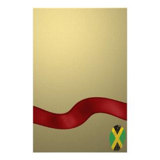 Jamaican touch fingerprint flag stationery
