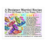 Jamaican Tropical Martini Recipe Card Postcard