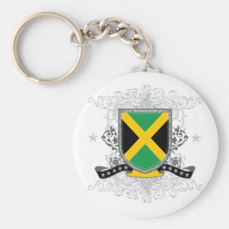 jamaicashield2 basic round button key ring
