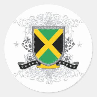 jamaicashield2 round sticker