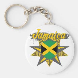 jamaicastar basic round button key ring