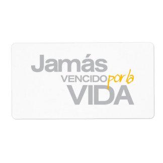 JAMAS VENCIDO POR LA VIDA (p1078) Shipping Label