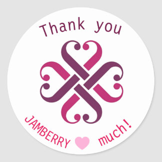Jamberry thank you mailing envelope seals round sticker