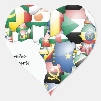 Jambo Habari Africa ! I Love Africa Sticker