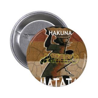Jambo Habari Hakuna Matata. 6 Cm Round Badge