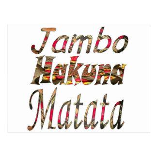 Jambo ! Hakuna Matata Postcard