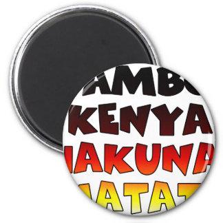 Jambo Kenya Hakuna Matata 6 Cm Round Magnet