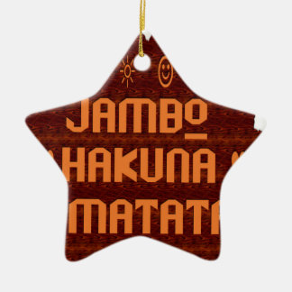 jambo MATATa.png Ceramic Star Decoration