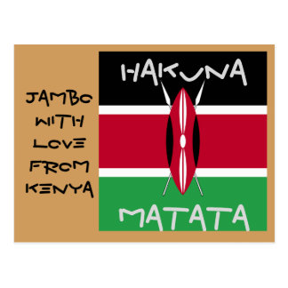 Jambo With Love FromKenya Hakuna Matata post cards