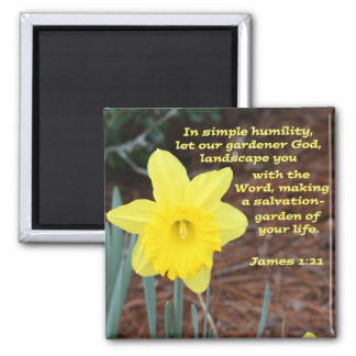 James 1: 21 square magnet