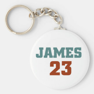 James 23 basic round button key ring