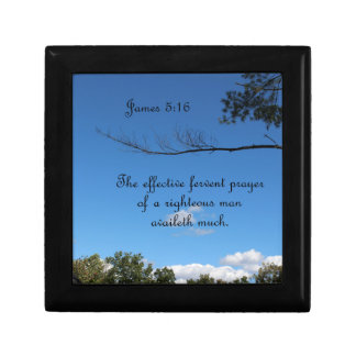 James 5:16 The effectual fervent prayer of Small Square Gift Box