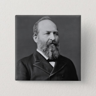 James A. Garfield 15 Cm Square Badge