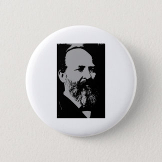 James A. Garfield silhouette 6 Cm Round Badge