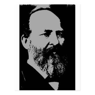 James A. Garfield silhouette Postcard