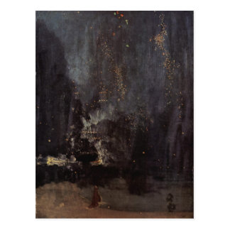 James Abbott McNeill Whistler - Nocturne in black Postcard