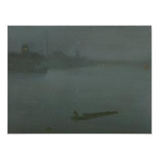 James Abbott McNeill Whistler - Nocturne in Blue Photograph