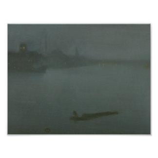 James Abbott McNeill Whistler - Nocturne in Blue Photographic Print