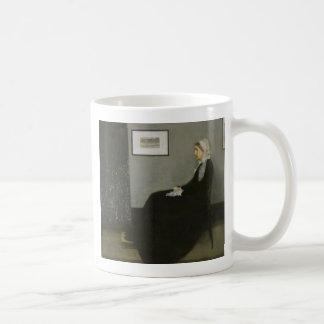 James Abbott Whistler - Whistler's Mother Basic White Mug