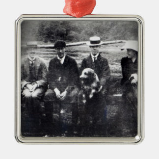 James and Lytton Strachey with Thoby, Adrian Christmas Ornament