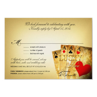 James & Annette Vegas METALLIC CHAMPAGNE RSVP 9 Cm X 13 Cm Invitation Card