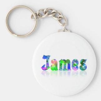 James Basic Round Button Key Ring