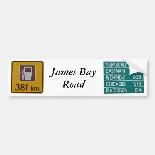 James Bay Road bumper sticker