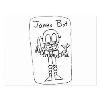 James   Bot Postcard