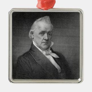 James Buchanan, engraved by Henry Bryan Hall (1800 Christmas Ornament