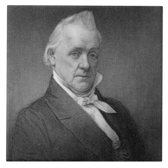 James Buchanan, engraved by Henry Bryan Hall (1800 Large Square Tile