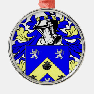 James Coat of Arms Silver-Colored Round Decoration