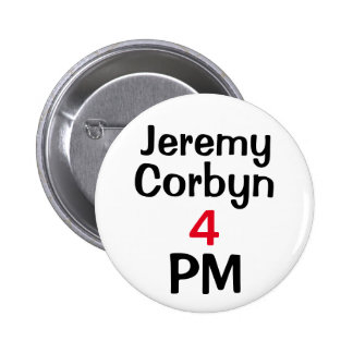 """James Corbyn 4 PM"" (Prime Minister) Button Badge"