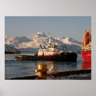James Dunlap Tugboat in Dutch Harbor, Alaska Poster