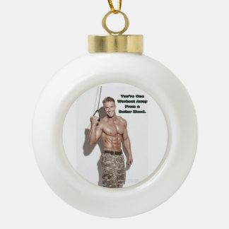 James Ellis Happy Workout Ceramic Ornament