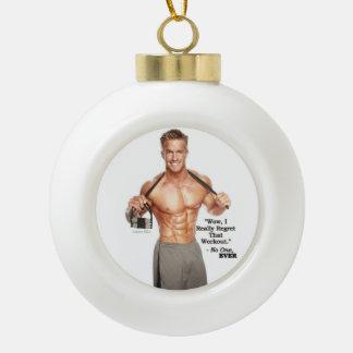 James Ellis Workout Regret Ceramic Ornament