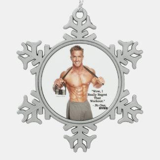 James Ellis Workout Regret Snowflake Ornament