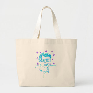 'James Franco with Glasses' Jumbo Tote Canvas Bags