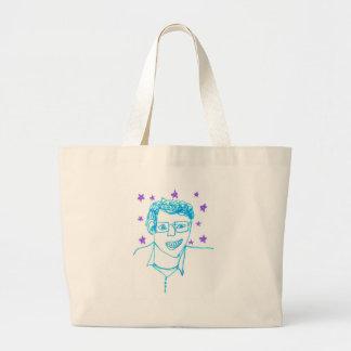 'James Franco with Glasses' Jumbo Tote Jumbo Tote Bag