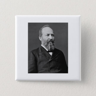 James Garfield 20th President 15 Cm Square Badge