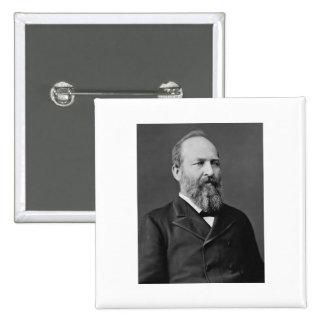 James Garfield 20th President 15 Cm Square Badge