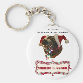 James Garfield:Patron Saint of Accidental Miracles Basic Round Button Key Ring