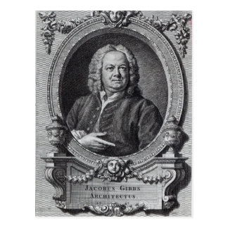 James Gibbs, engraved by Bernard Baron, 1747 Postcard