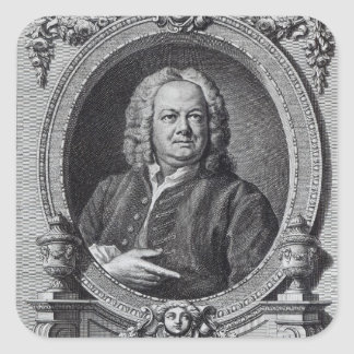 James Gibbs, engraved by Bernard Baron, 1747 Square Sticker