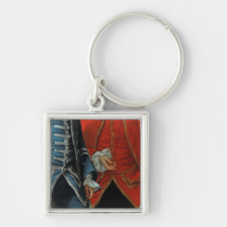 James Grant of Grant, John Mytton, the Honorable T Silver-Colored Square Key Ring