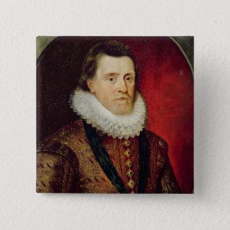 James I 15 Cm Square Badge